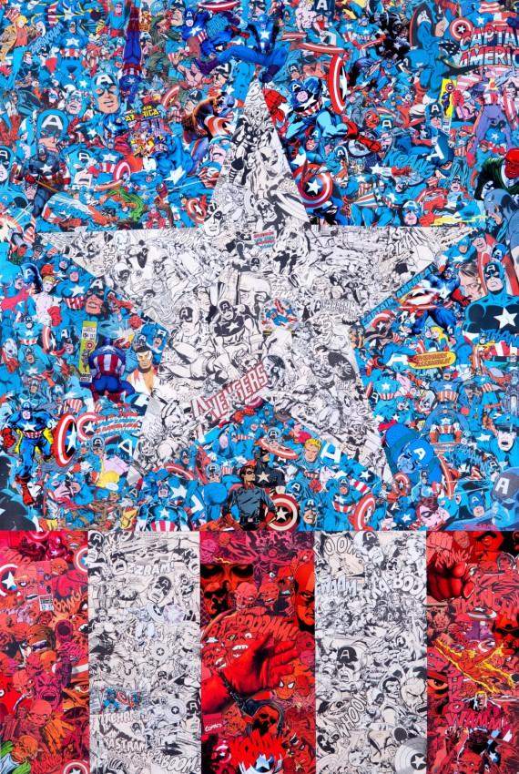 2_1_9_les-collages-super-heroiques-garcin-captain-america