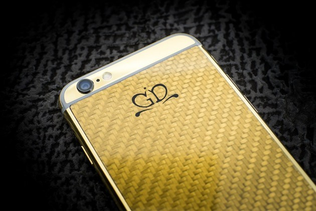 Luxury-iPhone-6-by-Golden-Dreams-Carbon-Fiber-Edition-Gold-630x420