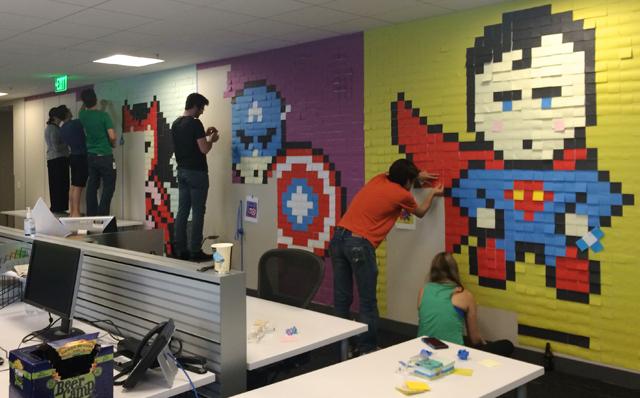 Superhero-Post-It-Mural00