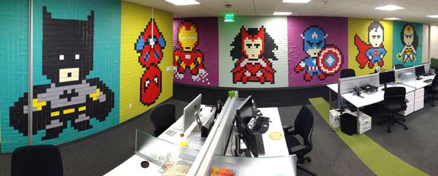 Superhero-Post-It-Mural009