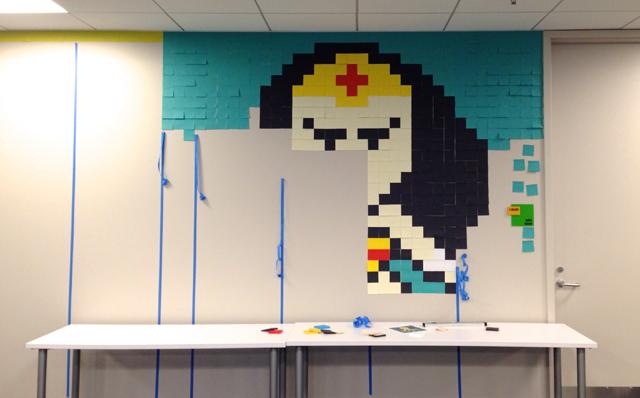 Superhero-Post-It-Mural5