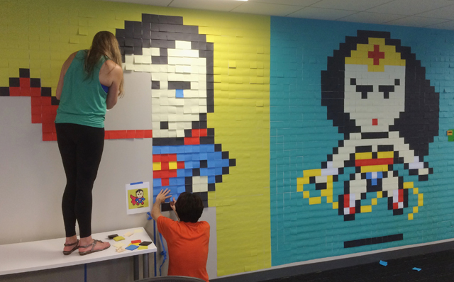 Superhero-Post-It-Mural6