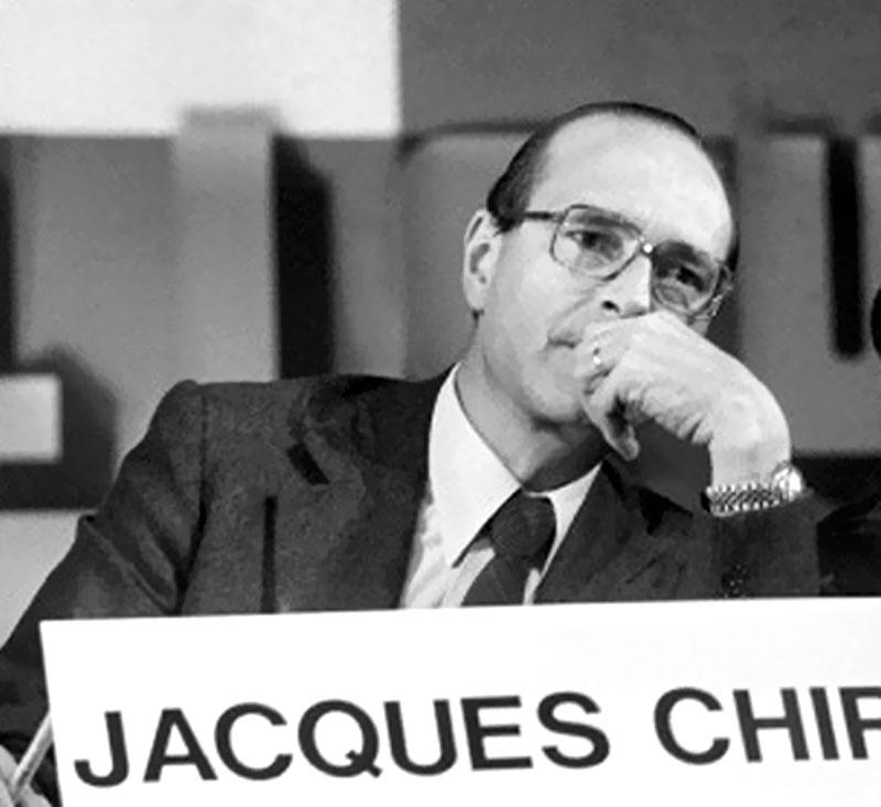 Jacques Chirac en Rolex
