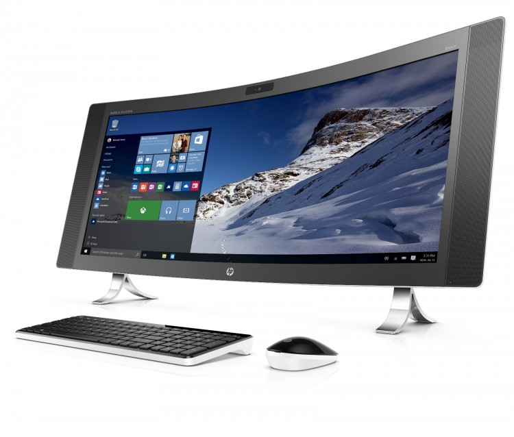 HP ENVY Curved All-in-One_left facing