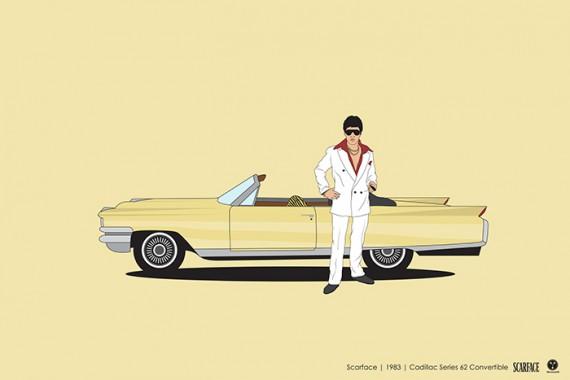 2_1_11_les-personnages-films-series-cultes-posent-avec-leurs-vehicules-emblematiques-scarface