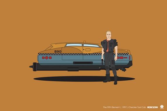 2_1_25_les-personnages-films-series-cultes-posent-avec-leurs-vehicules-emblematiques-cinquieme-element