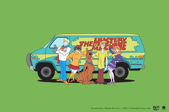 2_1_31_les-personnages-films-series-cultes-posent-avec-leurs-vehicules-emblematiques-scooby-doo