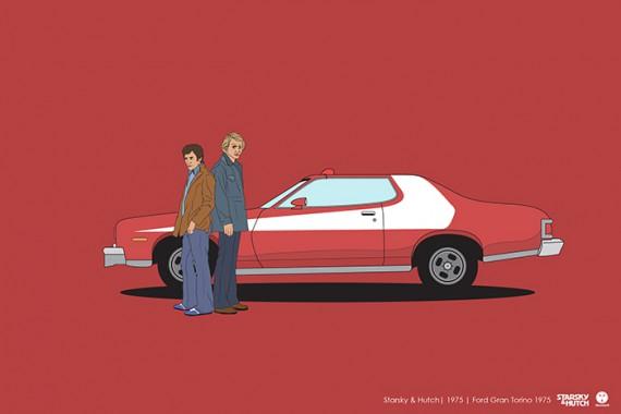 2_1_32_les-personnages-films-series-cultes-posent-avec-leurs-vehicules-emblematiques-starsky-hutch