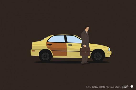 2_1_39_les-personnages-films-series-cultes-posent-avec-leurs-vehicules-emblematiques-better-call-saul