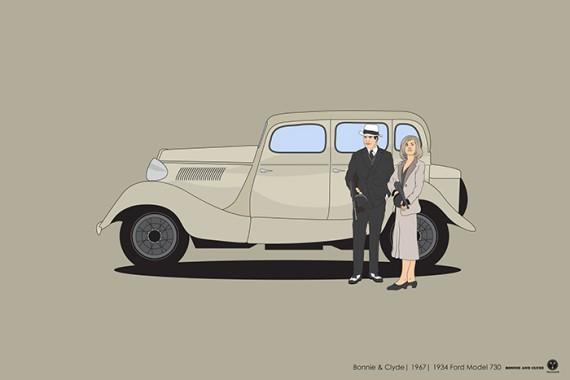 2_1_3_les-personnages-films-series-cultes-posent-avec-leurs-vehicules-emblematiques-bonnie-clyde