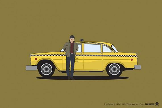 2_1_7_les-personnages-films-series-cultes-posent-avec-leurs-vehicules-emblematiques-taxi-driver