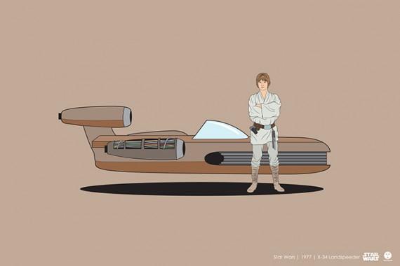 2_1_8_les-personnages-films-series-cultes-posent-avec-leurs-vehicules-emblematiques-star-wars-nouvel-espoir