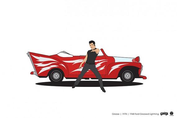 2_1_9_les-personnages-films-series-cultes-posent-avec-leurs-vehicules-emblematiques-grease